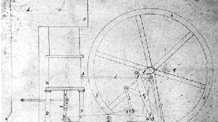 Robert Stirling's engine patent